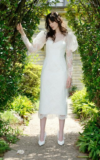 Isadora Fitted Scallop Lace Modern Victorian Day Dress