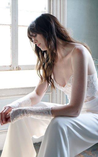 Liza Cropped Vine Embroidered Bralette