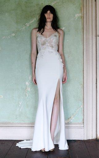 Effie V-Neck Sheath Gown