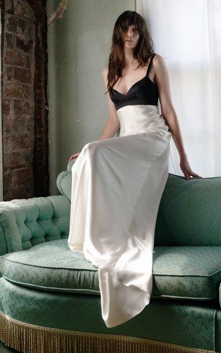 Eve Bias Satin Charmeuse Sheath Dress