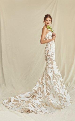 Floral Cut Floor Gown