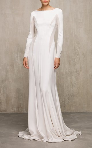 Azalea Long Sleeve Silk Gown
