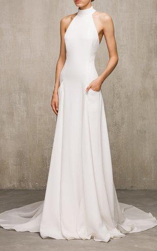 Iris Silk Halter Neck Gown