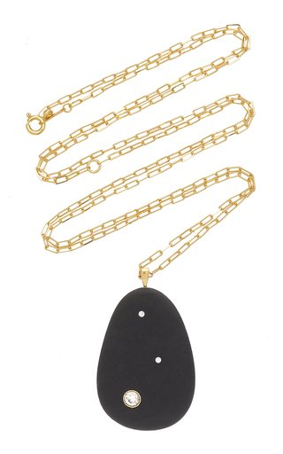 One-Of-A-Kind Awaited 18k Gold beach Stone Necklace