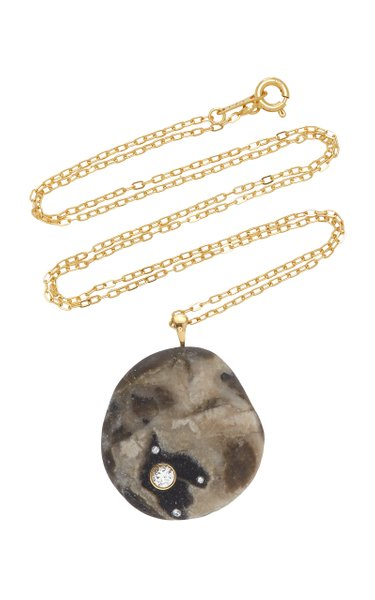 One-Of-A-Kind Temporale 18k Gold Beachstone Necklace