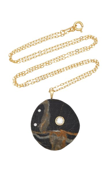 One-Of-A-Kind Bay 18k Gold Beachstone Necklace