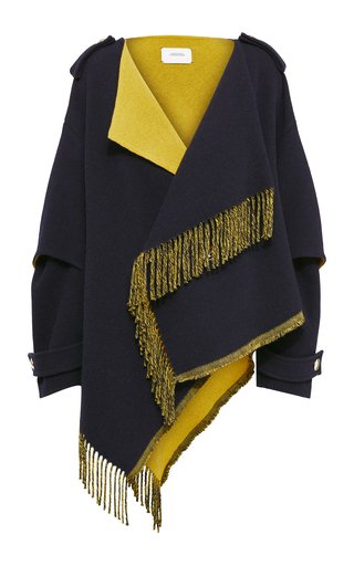 Colorful Fringed Wool Coat
