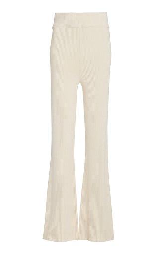 Sofia Ribbed-Knit Flared Pants