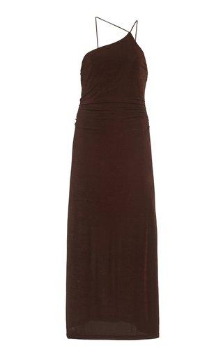 Bella Asymmetric Knit Jersey Midi Dress