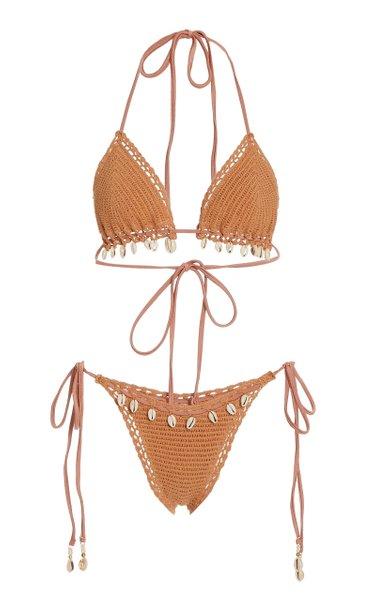 Cassia Crochet-Knit Bikini