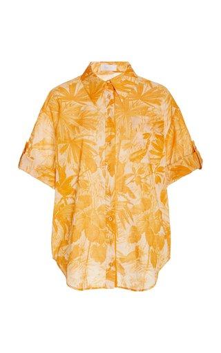 Mae Floral Cotton Button-Down Shirt