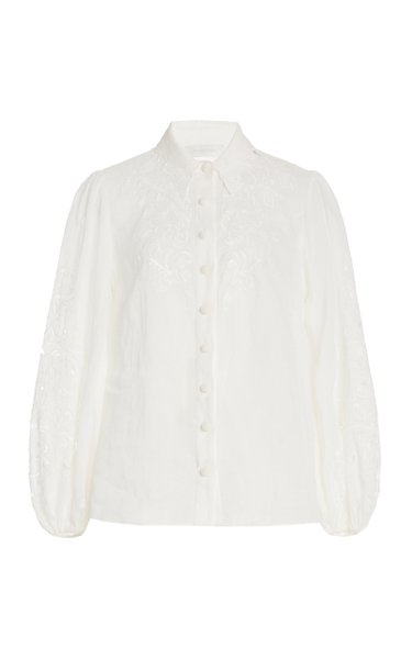 Nina Broderie Anglaise Woven Shirt