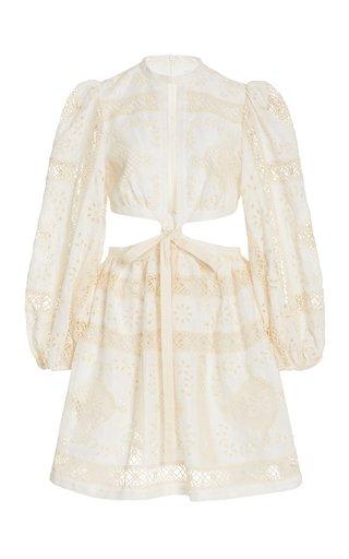 Aliane Cutout Broderie Anglaise Cotton Mini Dress
