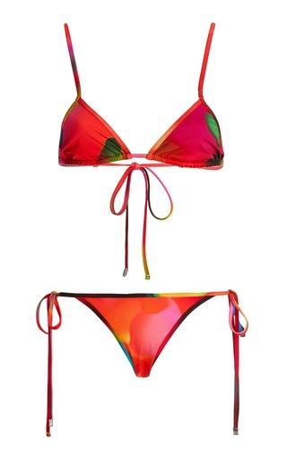 Printed Triangle Bikini