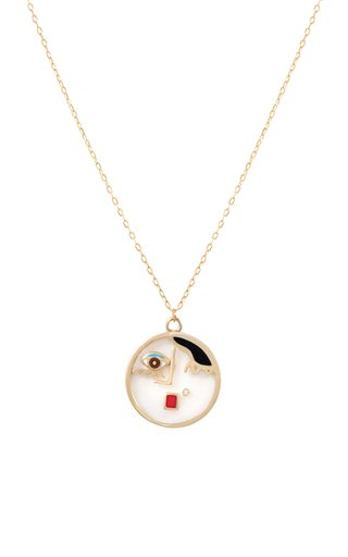 Face It 18K Yellow Gold Multi-Stone Necklace