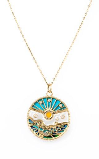 Love Summer 18K Yellow Gold Multi-Stone Necklace