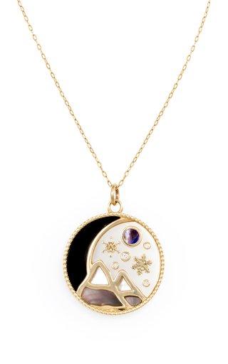Love Winter 18K Yellow Gold Multi-Stone Necklace