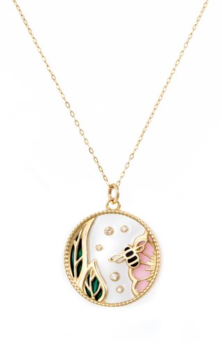 Love Spring 18K Yellow Gold Multi-Stone Necklace