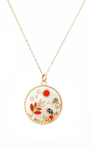 Love Autumn 18K Yellow Gold Multi-Stone Necklace
