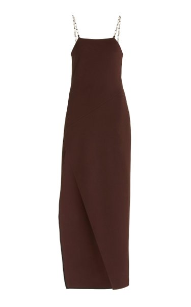 Fujiko Chain-Detailed Jersey Midi Slip Dress