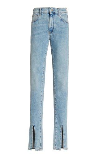 Split-Hem Stretch High-Rise Skinny Jeans