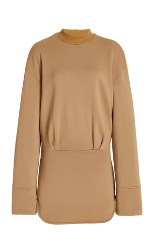Palmer Cotton-Blend Mini Sweatshirt Dress