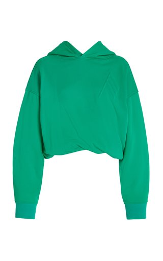 Maeve Cotton-Blend Cropped Hoodie