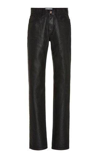 Coated Rigid High-Rise Flared Jeans