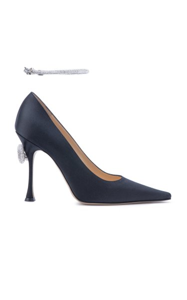 Classic Satin Pumps With Anklet