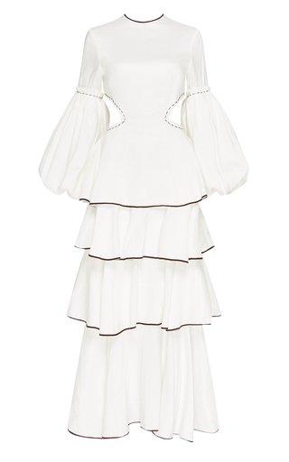 Gracious Cutout Linen-Blend Maxi Dress