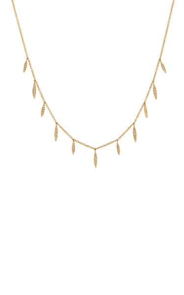 Eleven Wishes 14K Yellow Gold Diamond Necklace