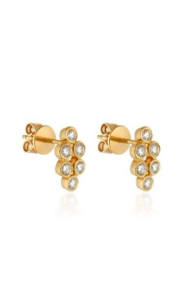 Harlequin 18K Yellow Gold Diamond Earrings