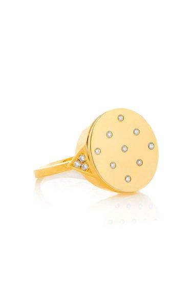 Brett 18K Yellow Gold Diamond Signet Ring