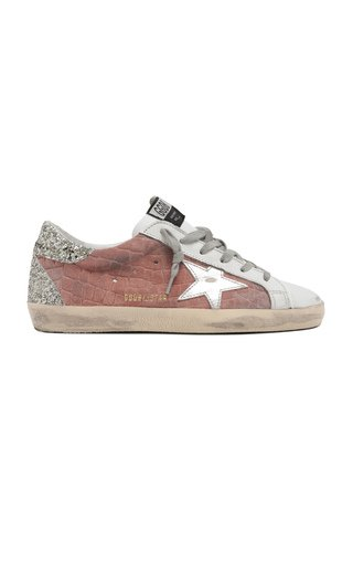 Superstar Cocco Glittered Leather Sneakers