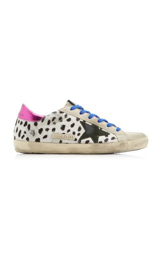Super-Star Calf Hair and Suede Sneakers