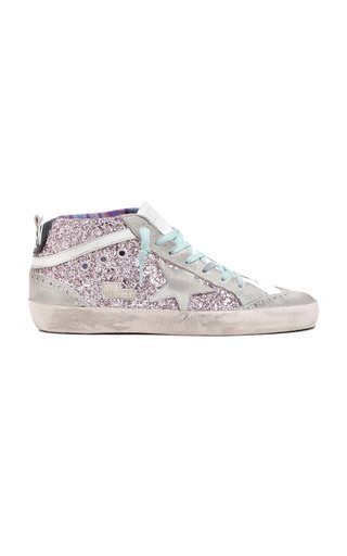 Mid Star Glittered Suede Sneakers