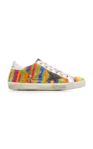 Super-Star Tie Dyed Wool and Leather Sneakers