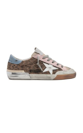 Super-Star Penstar Leopard-Print Suede and Leather Sneakers