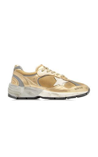 Running Dad Laminated Leather Sneakers