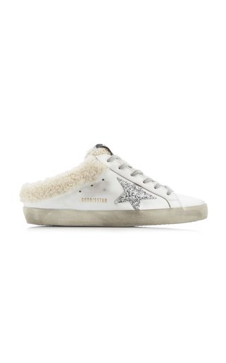 Superstar Sabot Shearling-Lined Leather Slip-On Sneakers