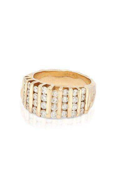 My Ray Channel 14K Yellow Gold Diamond Ring