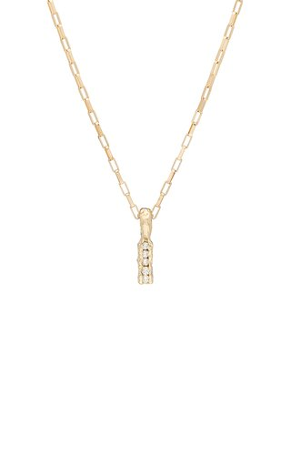 My Ray Channel 14K Yellow Gold Diamond Necklace