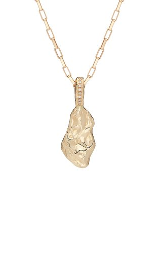 My Ray Nugget 14K Yellow Gold Diamond Necklace