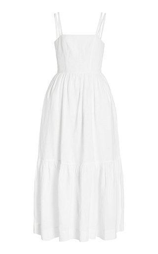 Exclusive Elkie Tiered Linen Maxi Dress