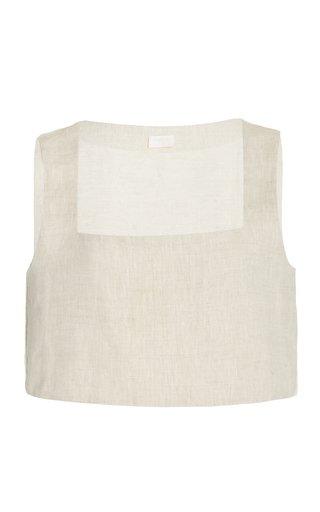 Exclusive Alice Linen Crop Top