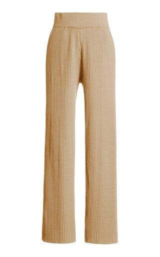 Jada Ribbed-Knit Pants