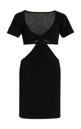 Billie Cutout Cotton-Blend Knit Mini Dress