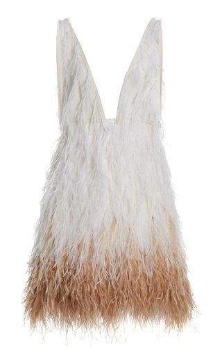 Ansel Feathered Mini Dress