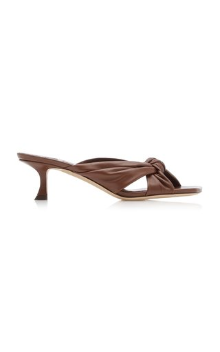 Avenue Knotted Leather Sandals