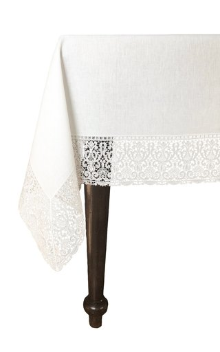 Rectangular Merletto Lace Tablecloth 180x300 with 12 Napkins